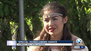 Forest Hill High School junior on hospice attends homecoming - Video
