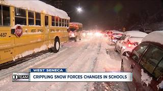 January snow forces changes in West Seneca schools - Video