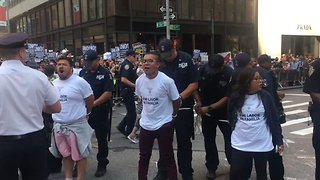 NYPD Detains DACA Protesters Outside Trump Tower - Video