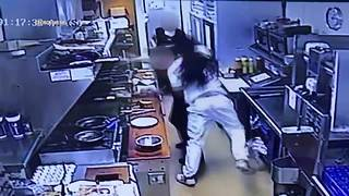 Man goes into kitchen, punches worker at George Webb - Video