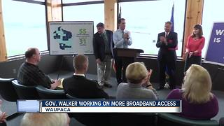 Gov. Walker securing grant funding for better broadband access - Video