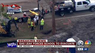 CHOPPER 5: Gas leak evacuates David L. Anderson Middle School in Martin County - Video