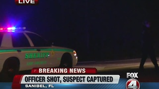 Sanibel Police Officer shot on Periwinkle - Video