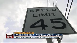 FDOT looks to lower speed limits across Tampa Bay in effort to save lives - Video