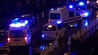 Emergency Vehicles Respond After Explosion in Antwerp - Video