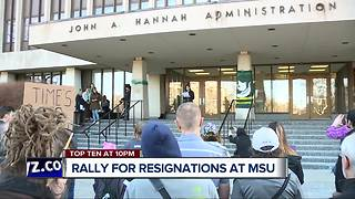 Rally calls for resignations of Engler, Board of Trustees at Michigan State University