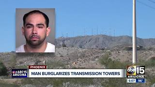 Man arrested for allegedly breaking into South Mountain towers