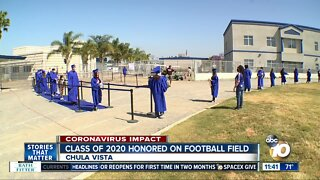 Chula Vista HS seniors honored on football field with special event