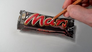 How to draw a realistic candy bar