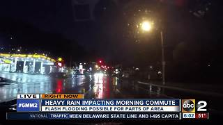 Heavy rain falls across Maryland - Video