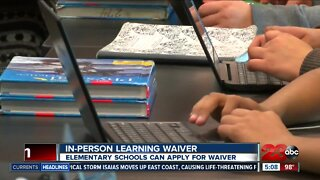 Elementary schools can apply for in-person learning waiver