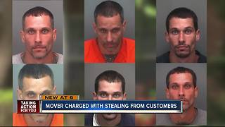 Mover charged with stealing from customers - Video