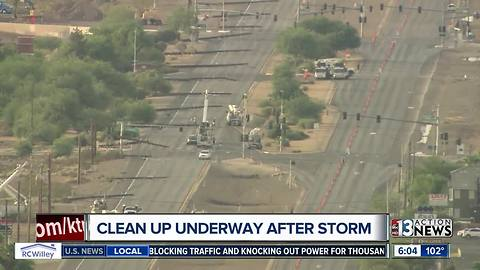 Clean up underway after Thursday night storm