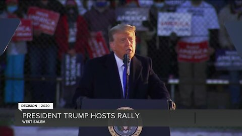 President Trump visits West Salen Tuesday