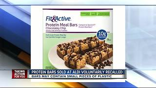 Recall issued for Fit & Active Protein Meal Bars sold at Aldi stores - Video