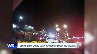 Vegas strip going dark to honor shooting victims