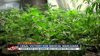 Judge rules Tampa strip club owner can legally grow his own medicinal marijuana - Video