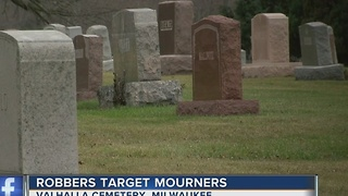 Man speaks out after being robbed at Valhalla Cemetery in Milwaukee - Video