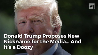 Donald Trump Proposes New Nickname for the Media… And It's a Doozy - Video