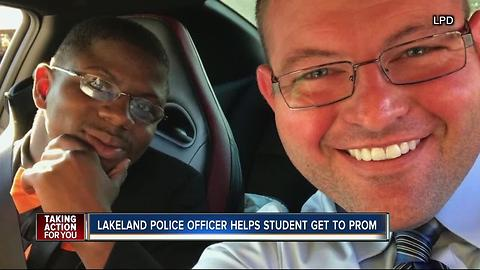 LPD officer bonds with high school senior and saves the day on prom night