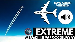 Weather Balloon GoPro Captures Airbus A319 Flyby - Video
