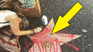 Paris Jackson CLEANS Michael Jackson's DEFACED Hollywood Star! - Video