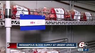 Urgent call for blood donors at Indiana Blood Center - Video