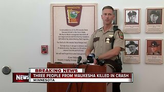 Three people from Waukesha killed in crash in Minnesota