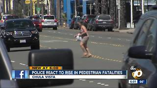 Chula Vista sees sharp rise in pedestrian deaths - Video