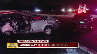 Three killed in wrong-way crash in Hillsborough County