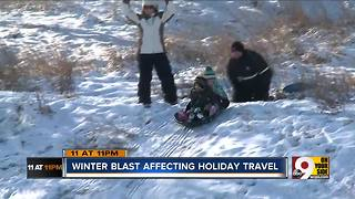 Winter blast affecting holiday travel - Video