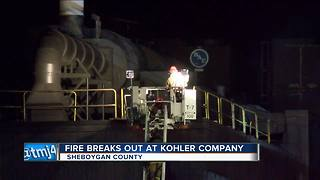 Building at Kohler Co. catches fire - Video