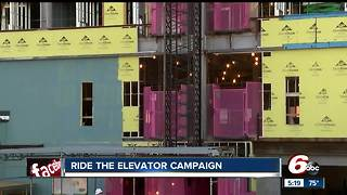 Pink elevator at Indianapolis hospital helps raise money for breast cancer awareness - Video