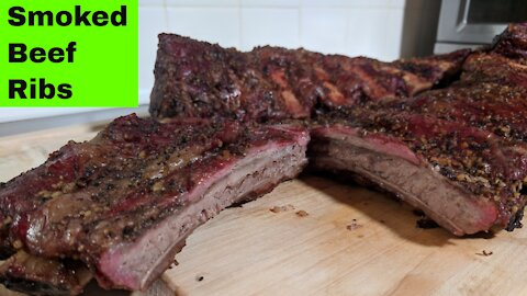 Smoked Beef Back Ribs Pellet Smoker Recipe, Green Mountain Grills