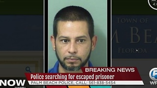 Police searching for escaped prisoner