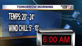 Slick spots possible Tuesday morning. - Video