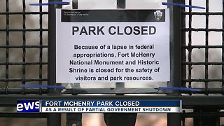 Government shutdown closes Fort McHenry National Monument