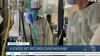 9 states set records over weekend
