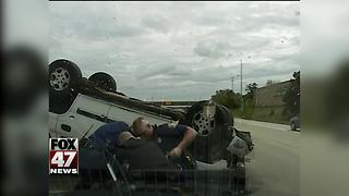 Hit and run suspect crashes during chase - Video