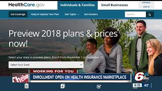 Health insurance marketplace enrollment opens for 2018 - Video