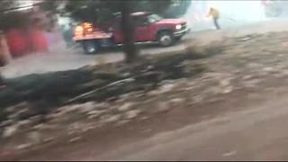Viewer captures amazing Los Encinos Fire evacuation video - Video