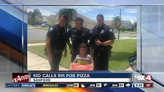 Sandford Police brings pizza to hungry boy who dialed 911