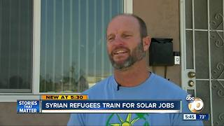 Syrian refugees train for jobs in San Diego solar industry - Video