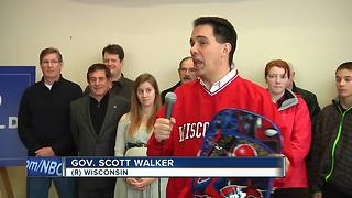 Walker stops in Ashwaubenon to promote proposed child tax credit - Video