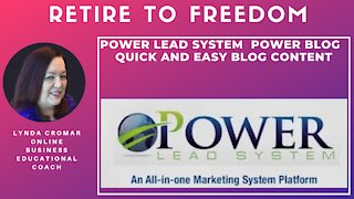 Power Lead System Power Blog quick and easy blog content