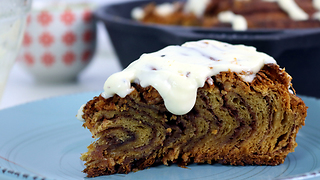 XXL cinnamon roll cake recipe