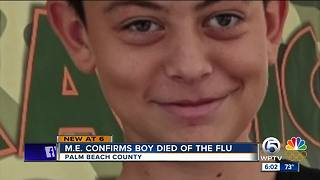 Medical Examiner confirms boy died of the flu - Video