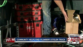 TULSA PLUMBER REUNITED WITH STOLEN TRUCK