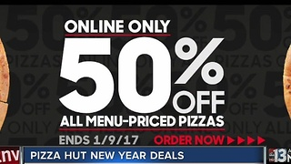 Half-off pizzas at Pizza Hut - Video