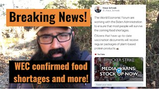 World Economic Forum Tweet and Coming food Shortages